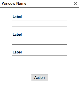 You can already see the three fields are pushing the modal window's layout towards a more vertical format.