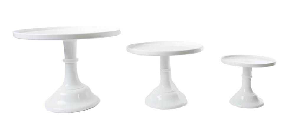 'Milk' Glass Cake Stands