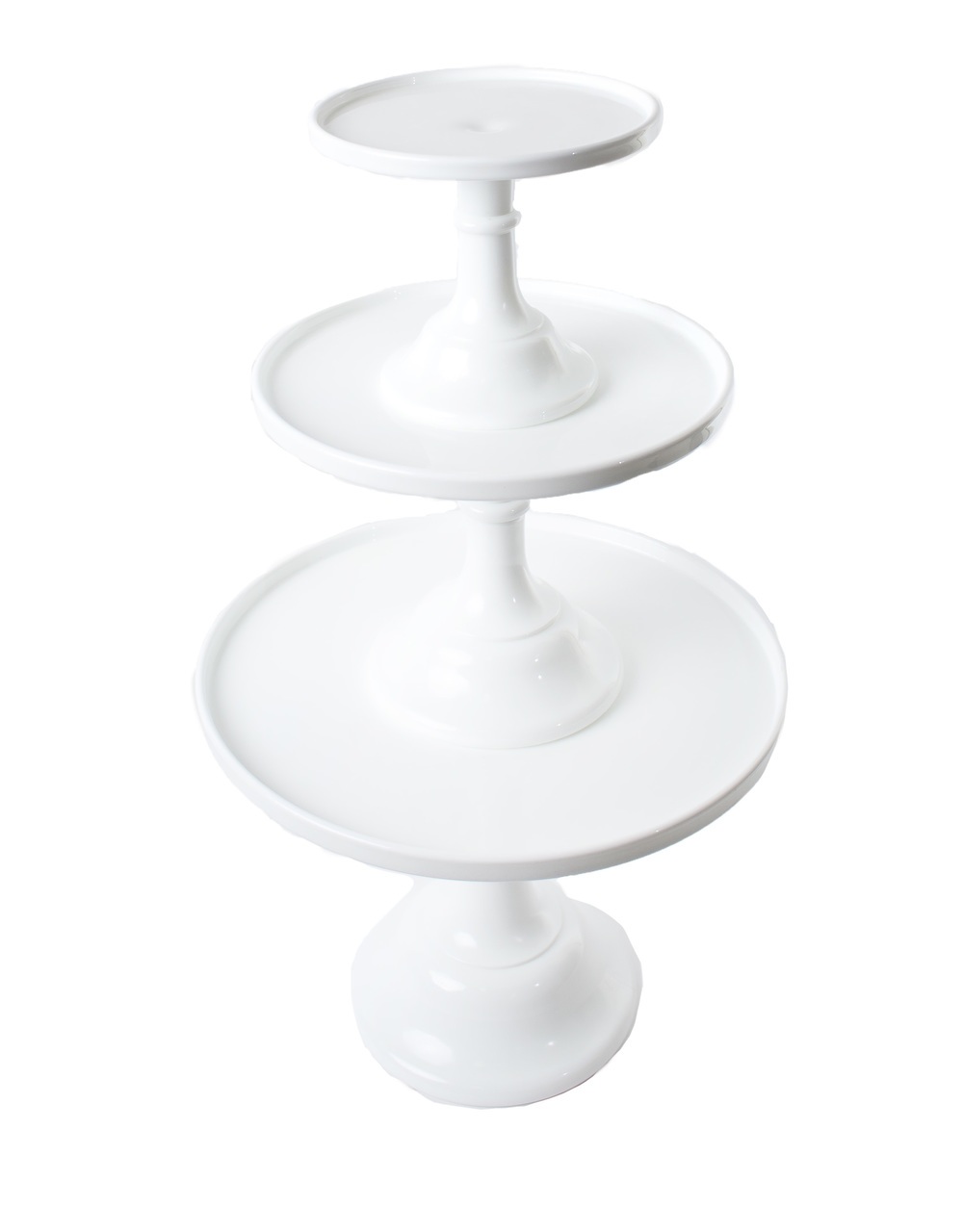 'Milk' Cake Stands (Shown Stacked)