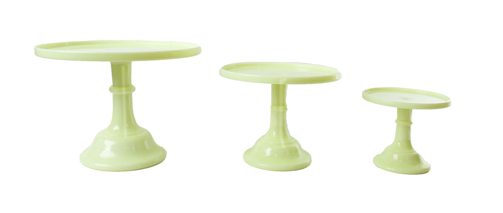 'Butter Cream' Glass Cake Stands