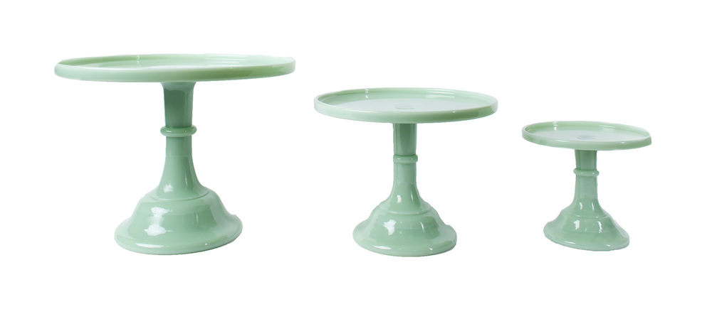 'Jade' Glass Cake Stands
