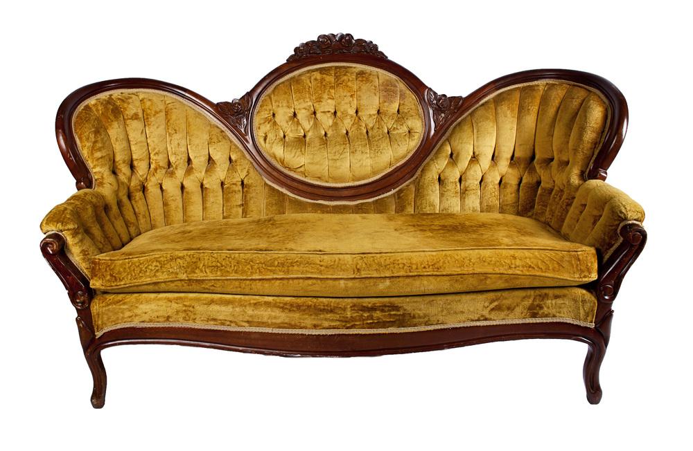 Mustard- Cameo Back Sofa
