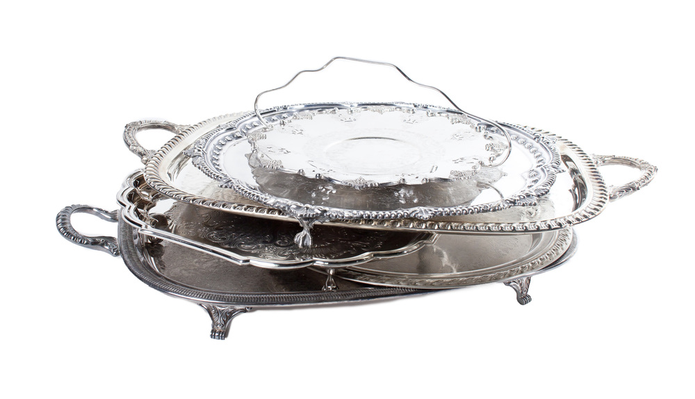 Assorted Silver Plated Serving Trays