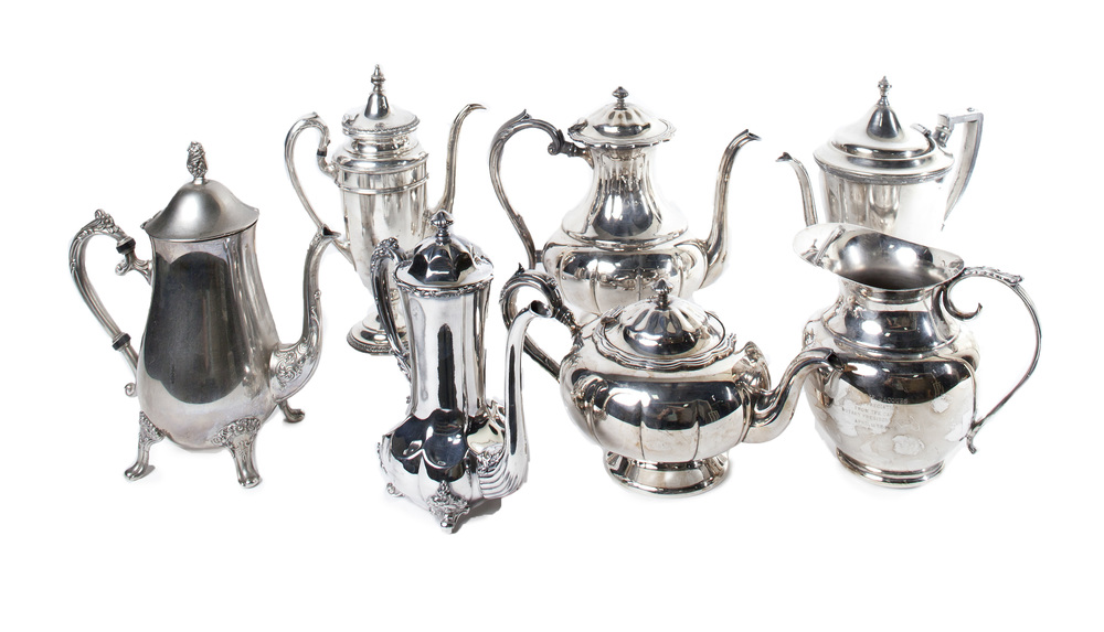 Assorted Silver Plated Teapots