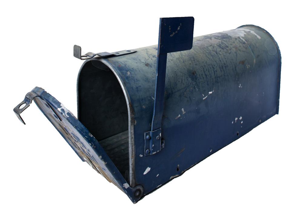 Blue Metal Mailbox