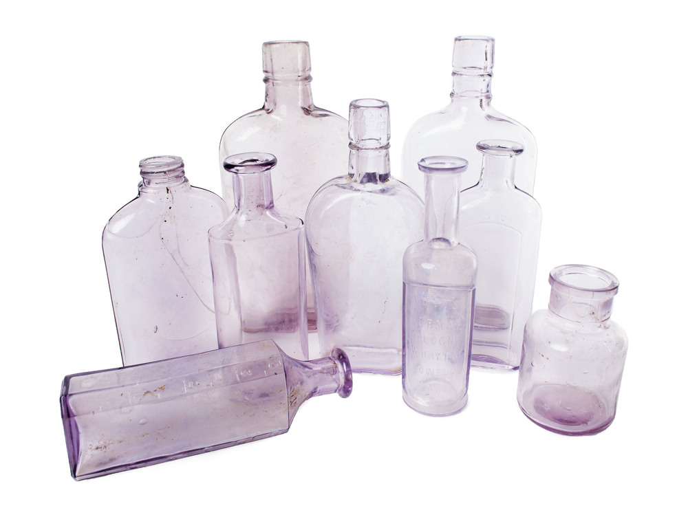 Antique - purple medicinal bottles