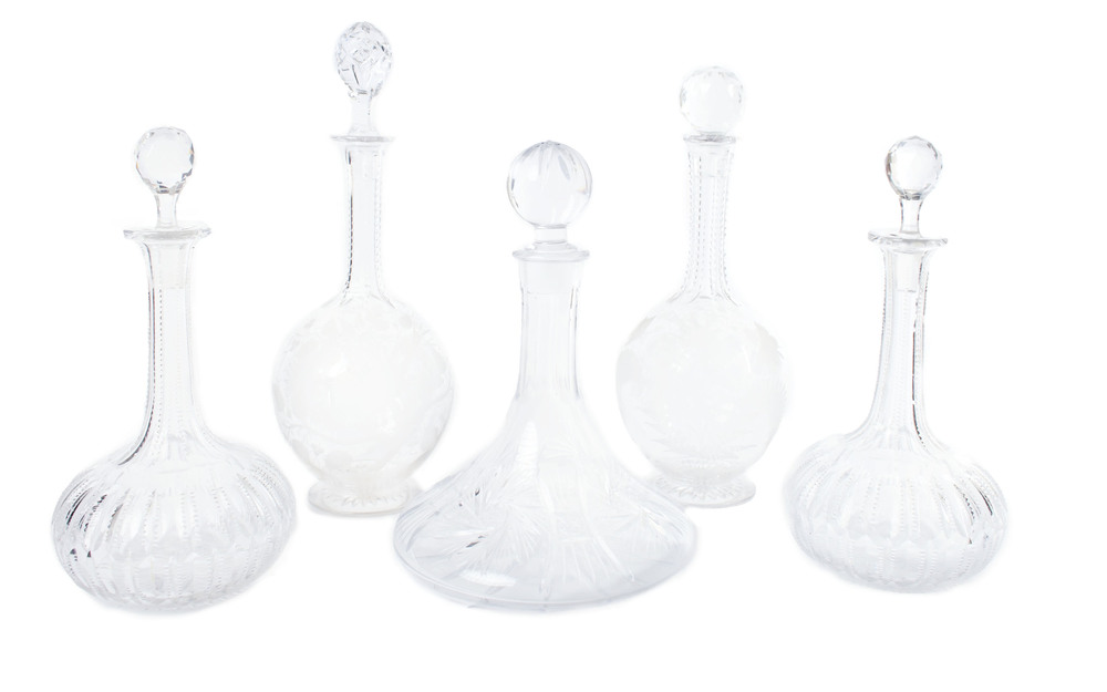 Crystal liquor decanters