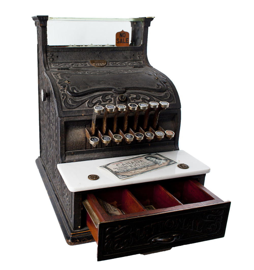 Early 1900s Cast Iron Cash Register
