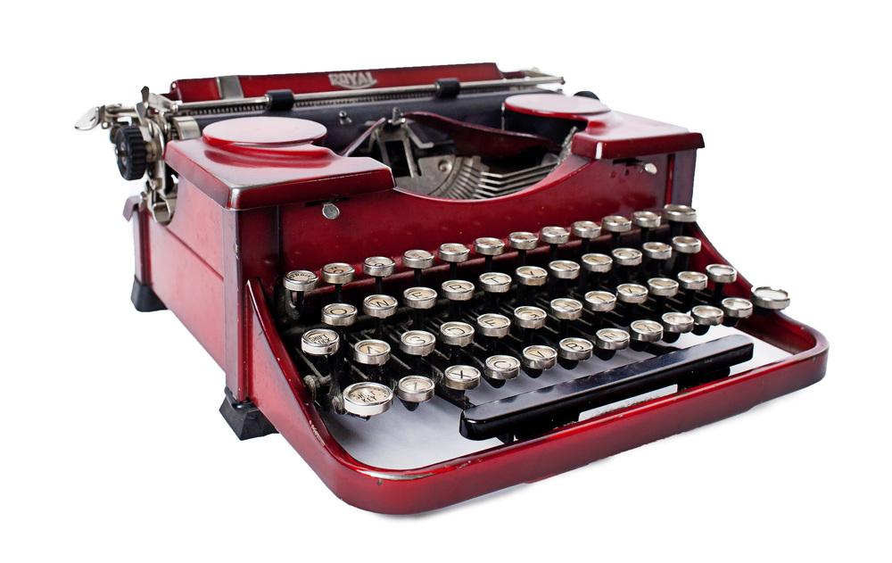 Red 'Royal' Typewriter