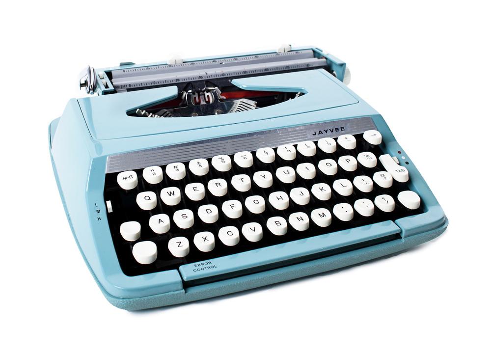 Turquoise 'Jayvee' Typewriter
