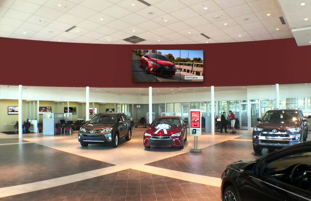 In-Dealership - It was key to create signage and branding throughout the dealership to create a sense of consistency and trust for the customer that aligned with the digital experience.
