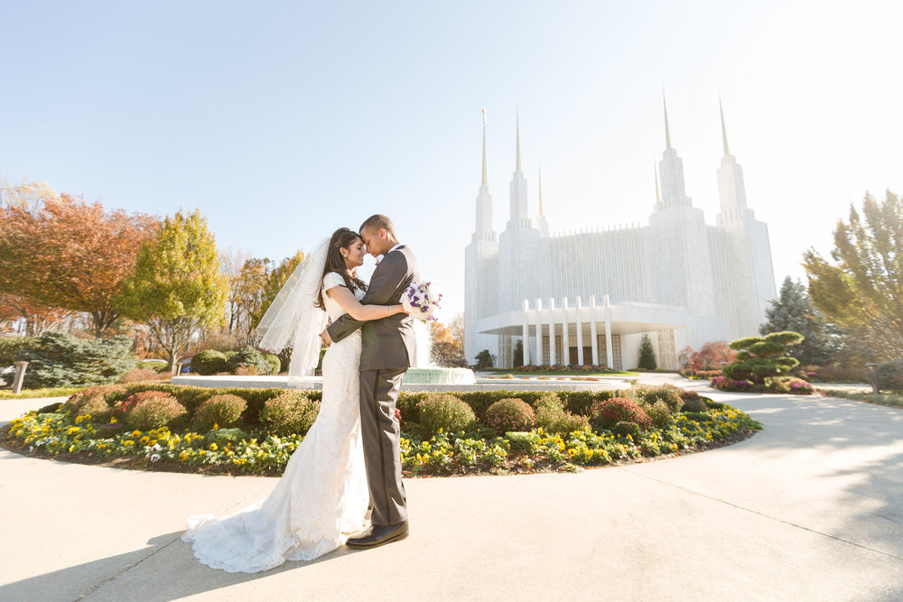 washington dc temple wedding photographer