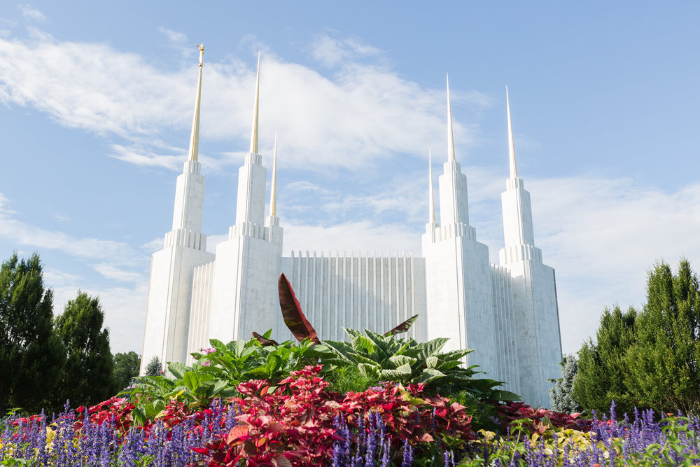 dc temple in the summertime