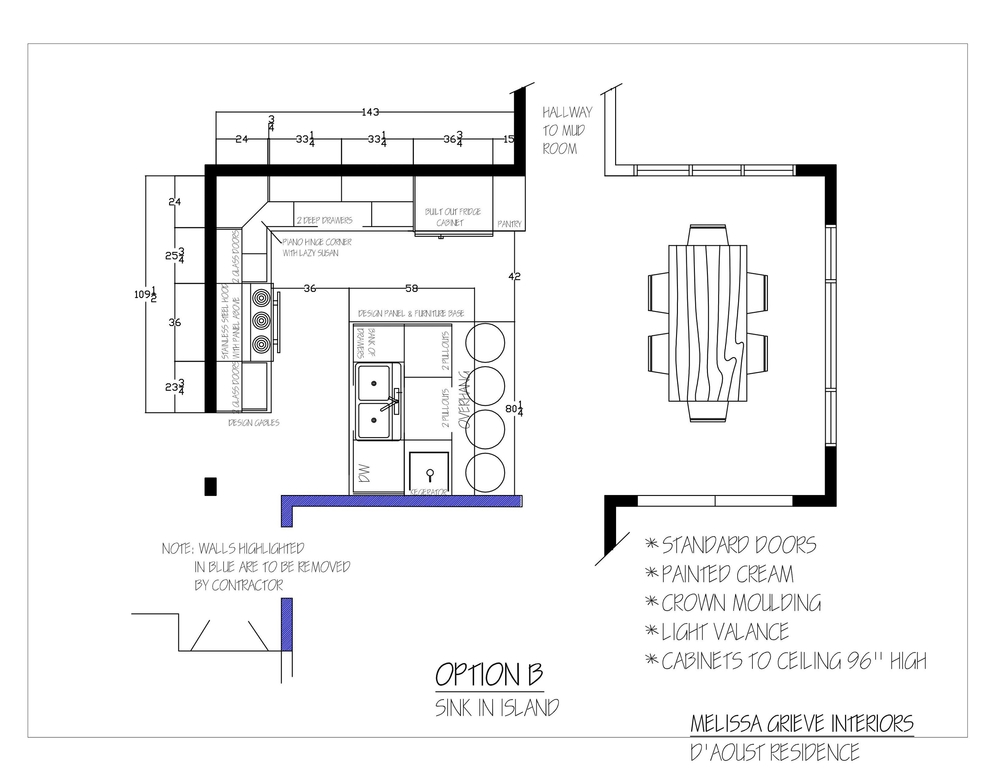 kitchen design plan option b