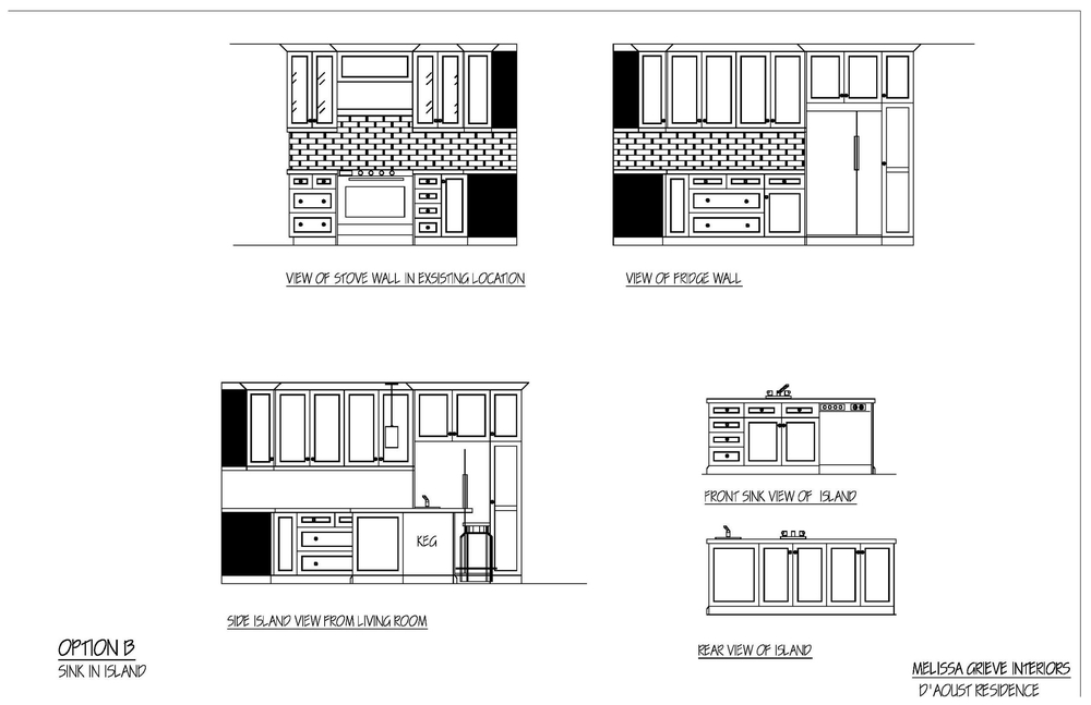 kitchen design elevation option b
