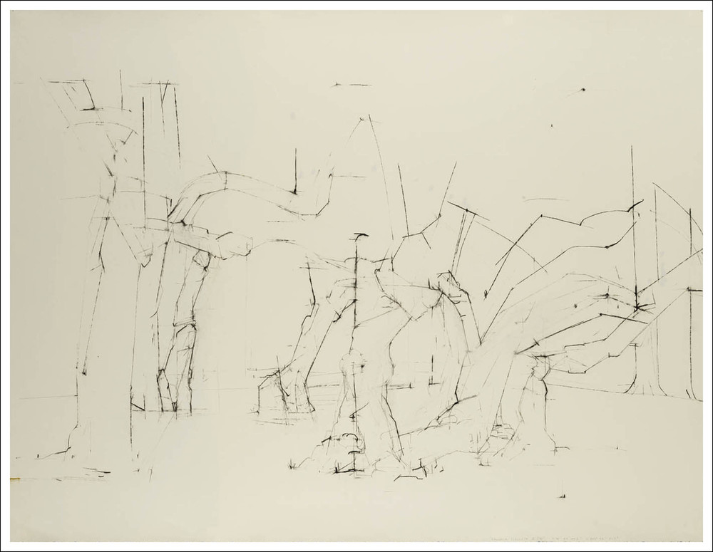 The Dance,   2007, Charcoal on paper (38.25 inches x 50 inches)