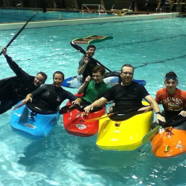 Pool sessions start.