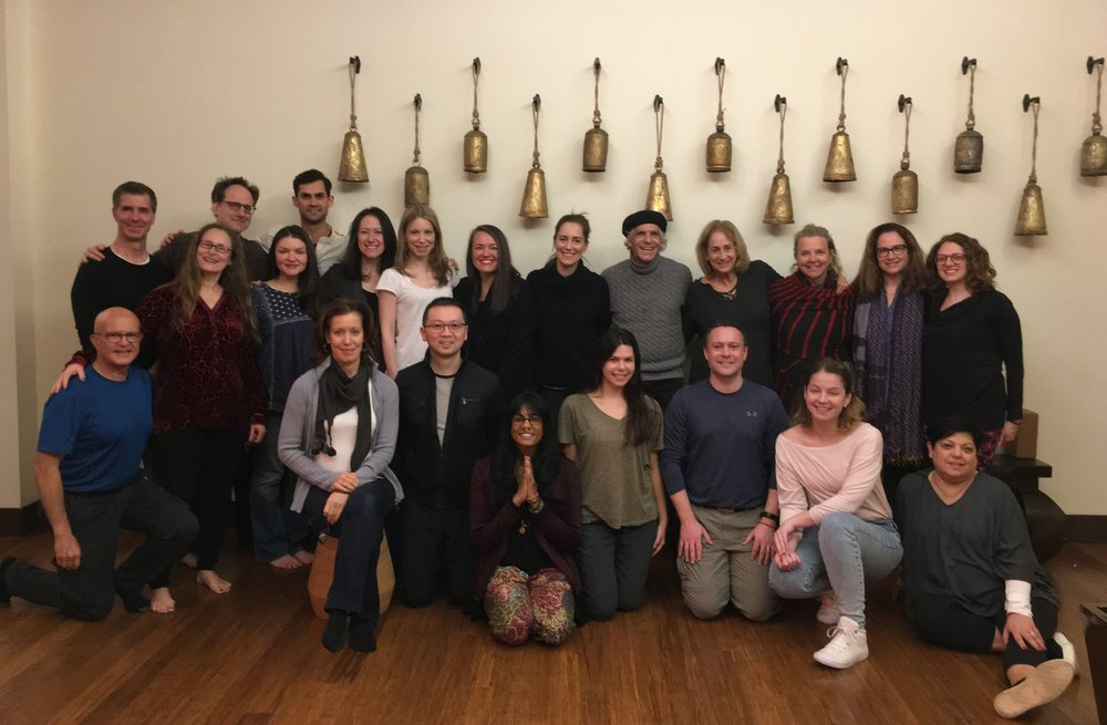 January 2018 teacher training graduates with our beloved Nalanda teachers!