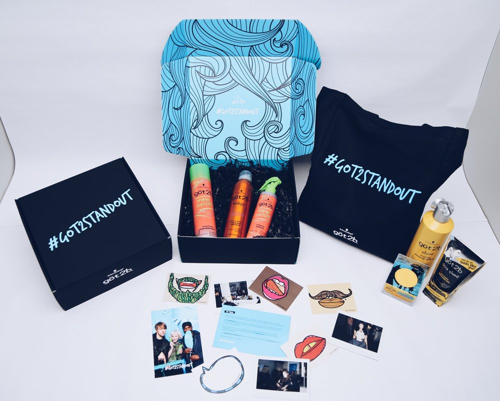 Swag bag for social media influencers