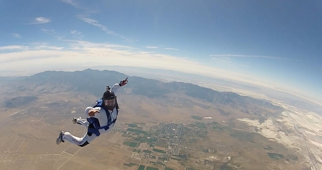 Photo credit: My friend Jonathan House, avid skydiver and Agilist.