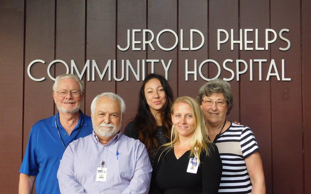 SHCHD Governing Board Members (Top row from the left): Jack Foster, Alison Rivas, Corinne Stromstad (Board President), (Bottom row from the left): David Ordonez (Board VP & Secretary), Jessica Willis