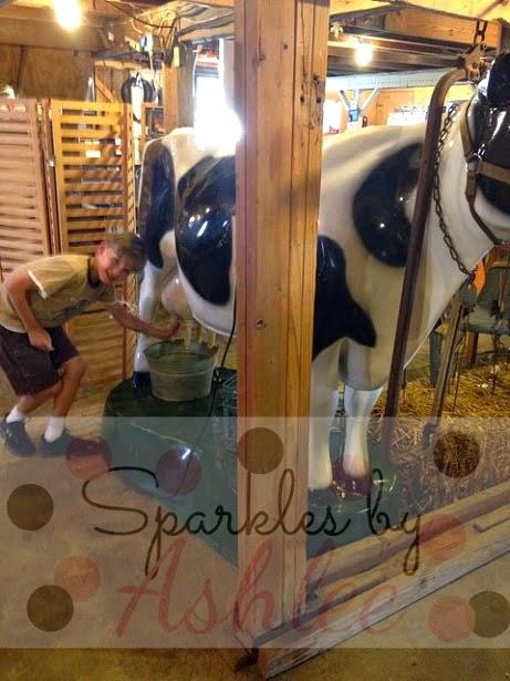 Hunter milkin' the cow!