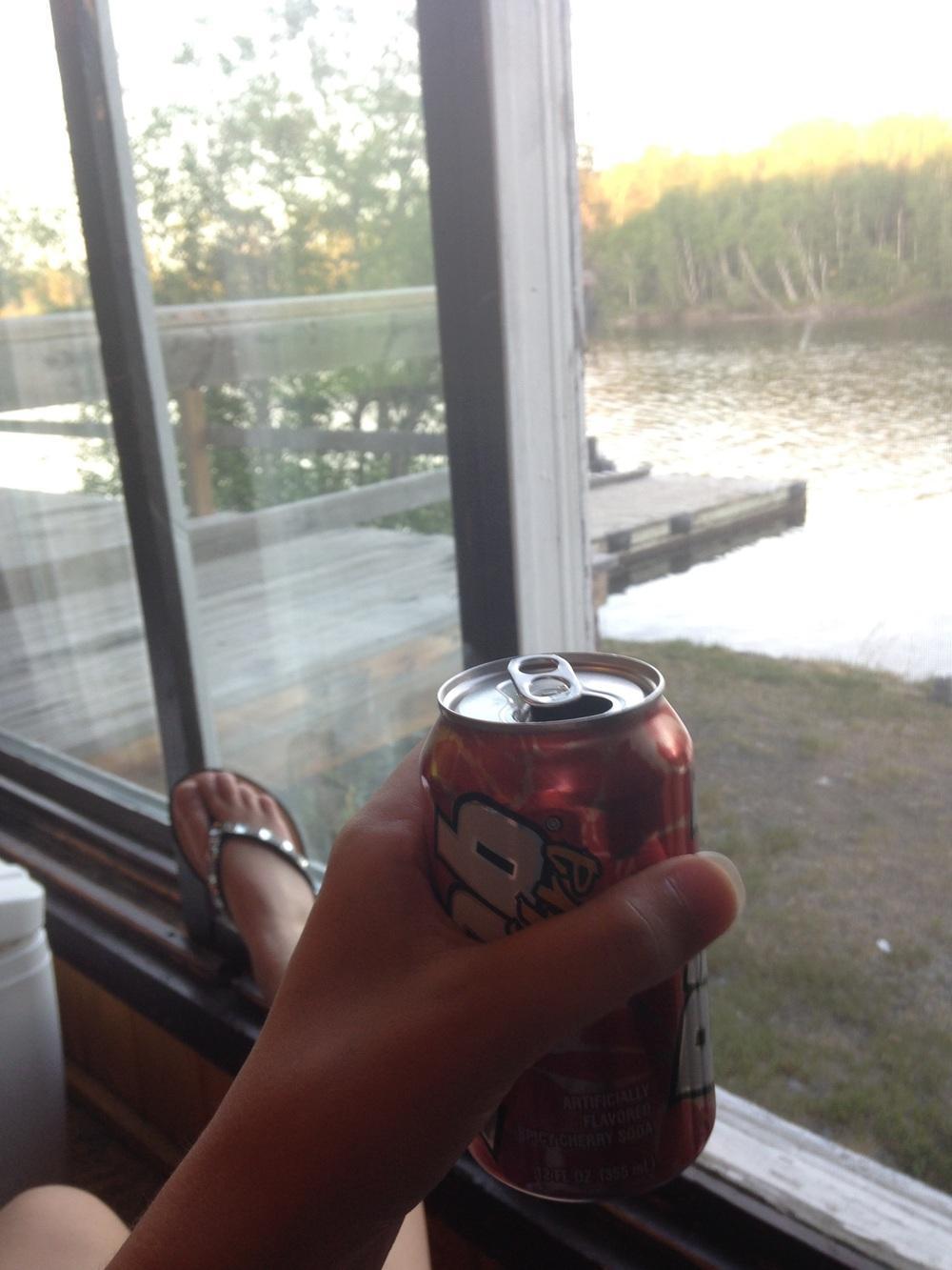 Ashlee-Looking-at-View-Drinking-Pibb.jpg