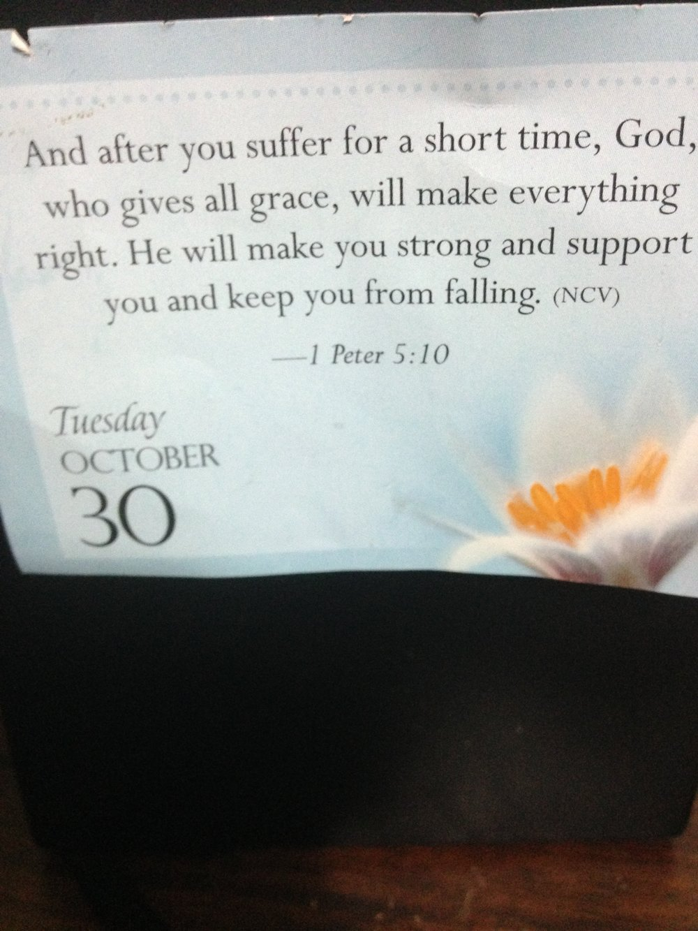on that note: I saw this verse and had to take a picture of it because Grams showed it to me after I was really down