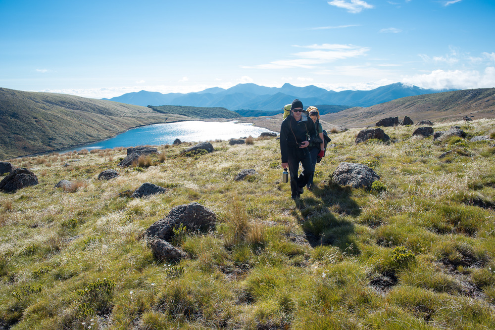 Hiking at Lake Sylvester in the Kahurangi National Park