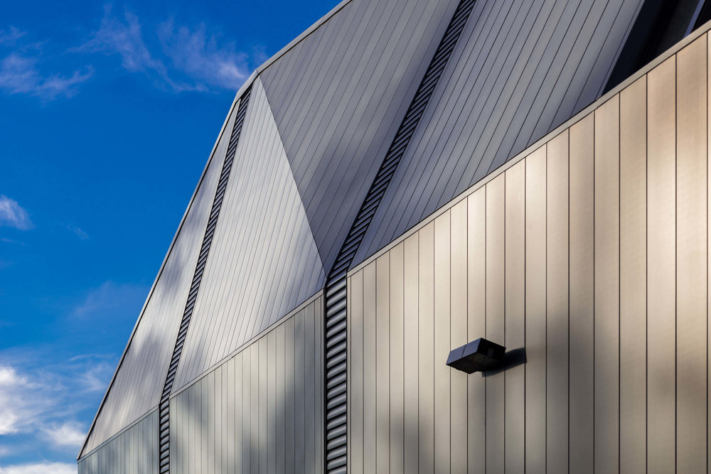 Zinc siding on The Suter