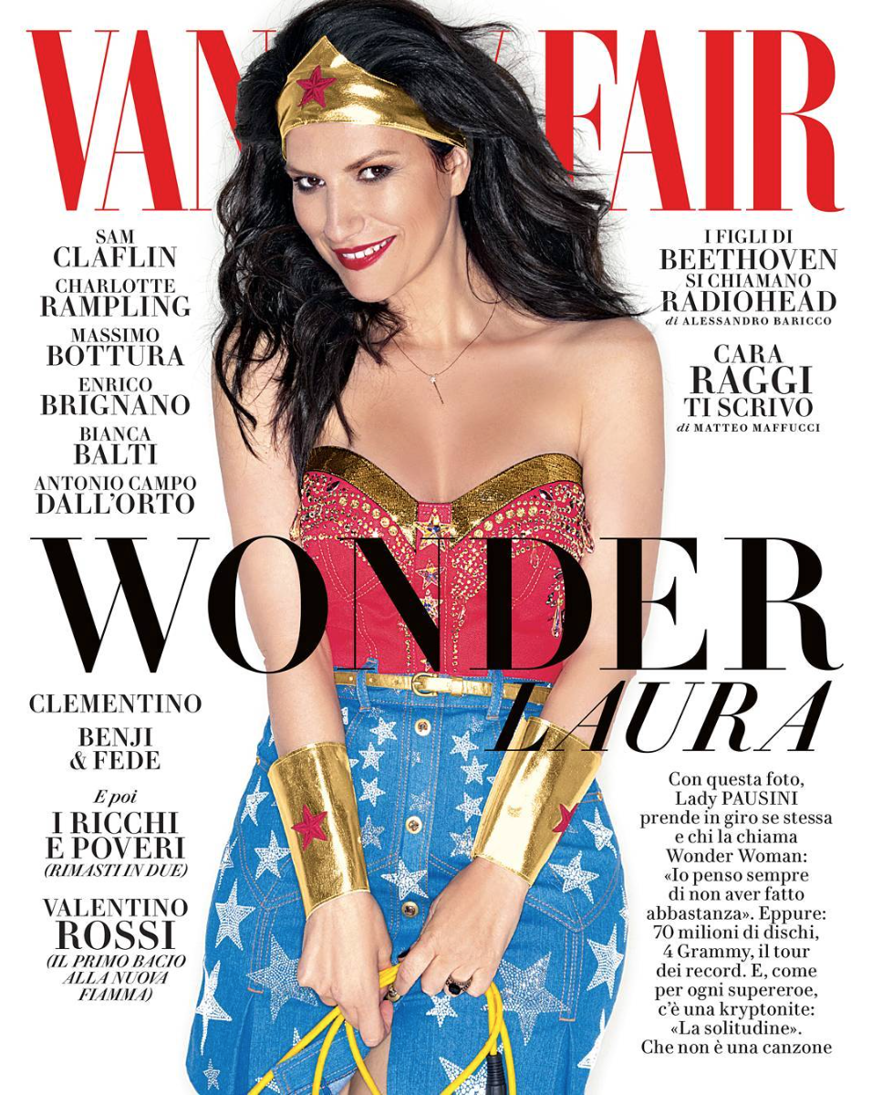 Vanity Fair Italia, Laura Pausini Cover for July 2016 Photography by Leandro Manuel Stylist by Nicolo Cerioni Mua + Hair by Gianluca Mandelli