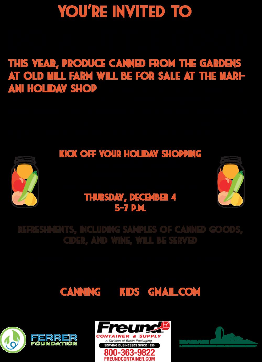 RSVP: canningforkids@gmail.com