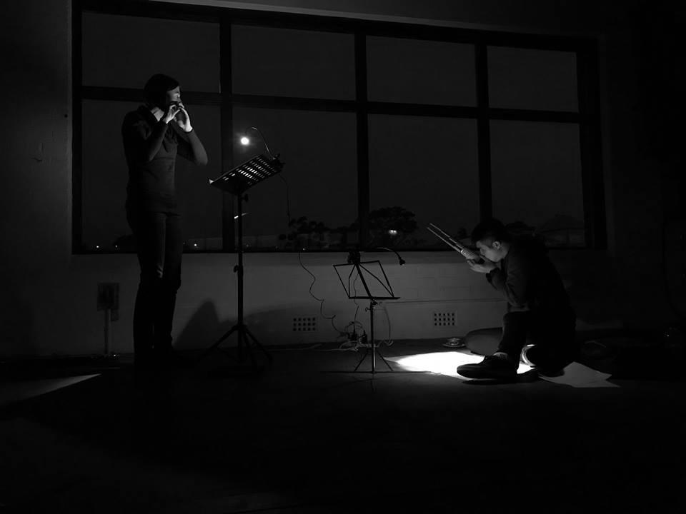Naomi and Henry performing Hosokawa's Bird Fragments III.