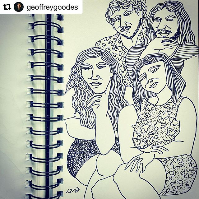 thanks to all who stopped by last night 👂💕 here's to another year of it ! and thanks to @geoffreygoodes for capturing this moment in lines 🖊 💕  #Repost @geoffreygoodes ・・・ audience at The Music Box Project party/housegig.  14/12/18