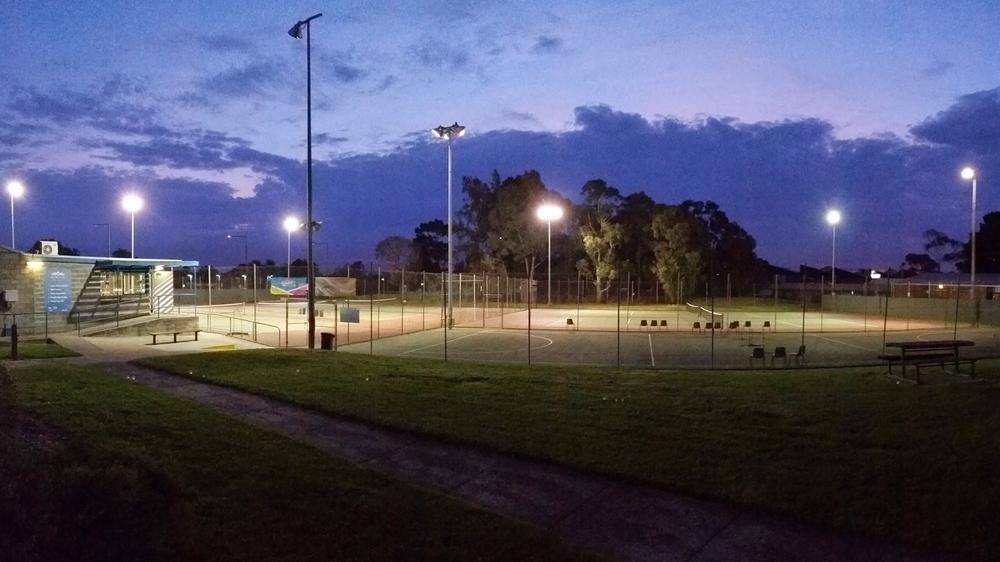Night Tennis at Nunawading Community Tennis Club.