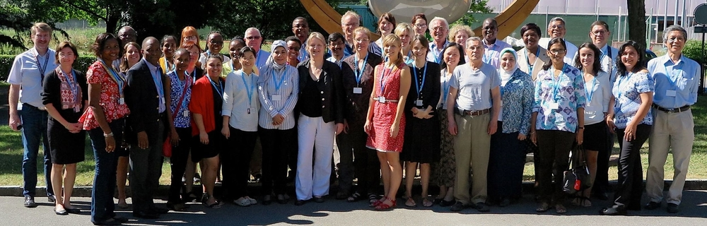 The GEAS team meeting at the World Health Organization, July 2015
