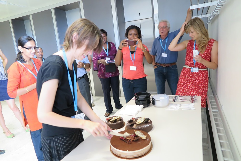 Caroline celebrated her birthday with chocolate
