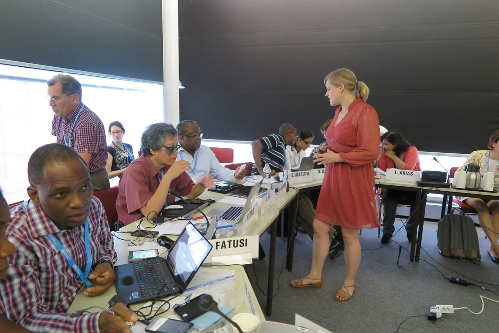 Hannah led a training on use of mobile technology for data collection