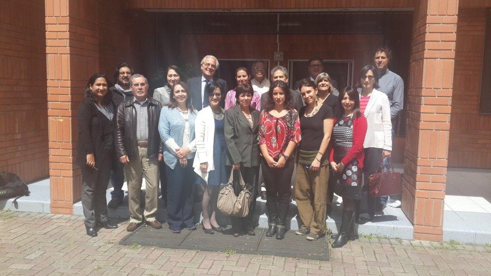 GEAS team members from Ecuador, Bolivia, Belgium, and the US