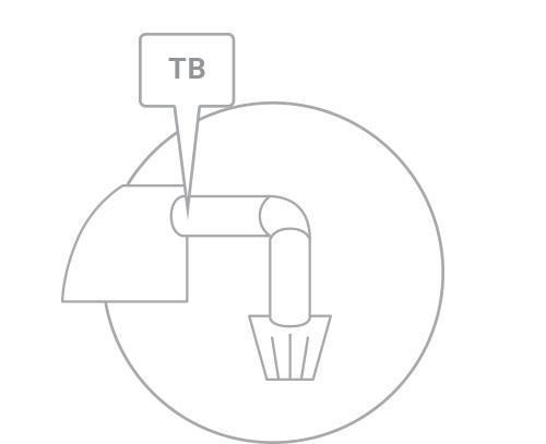 1. Locate throttle body opening