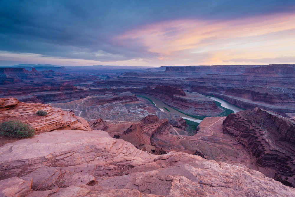 Sunset at Dead Horse Point outside Moab, UT
