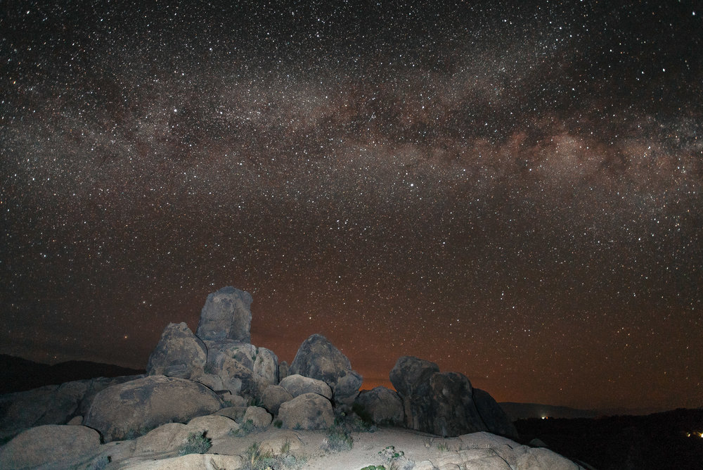 Milky Way over the Alabama Hills, CA.
