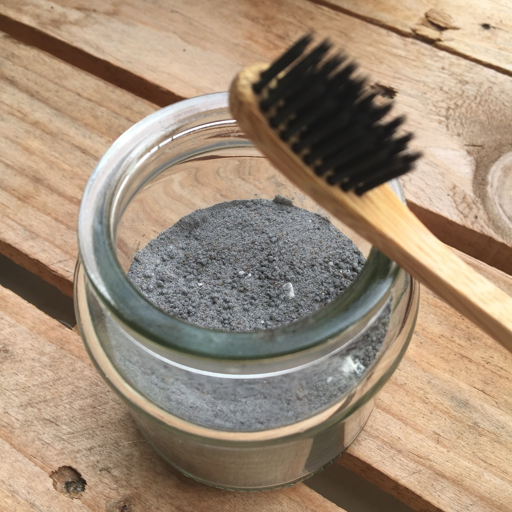 ecotoothbrush with charcoal bristles!