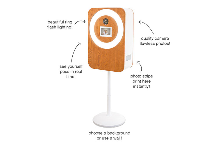 Diagram-of-Open-Air-Photo-Booth-detailing-beautiful-ring-flash-lighting-quality-camera-flawless-photos-see-yourself-pose-in-real-time-photo-strips-print-instantly-and-choose-your-own-background-or-use-a-wall