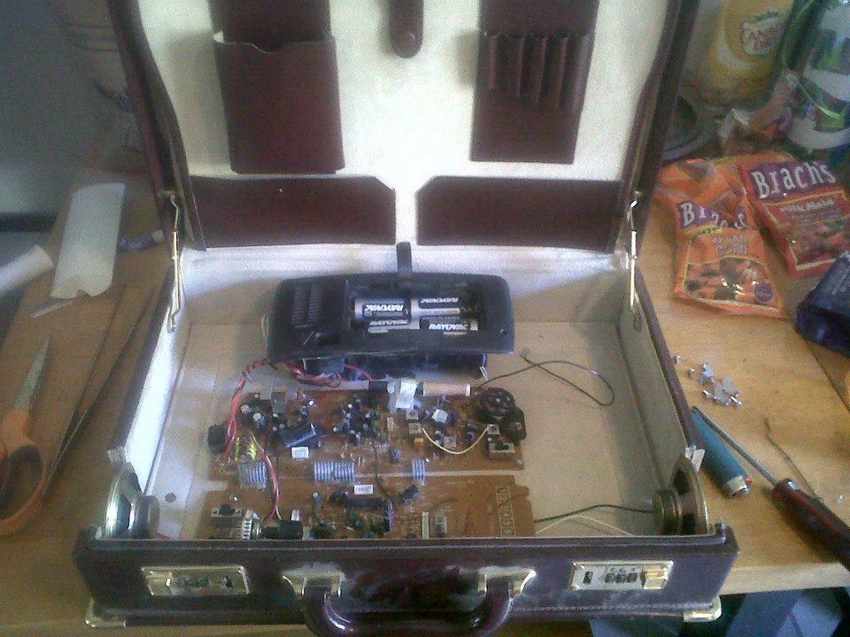 Briefcase Boombox