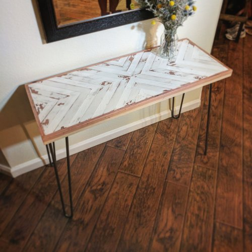 Hairpin legs tips tricks inspiration geometric entry table with hairpin legs watchthetrailerfo