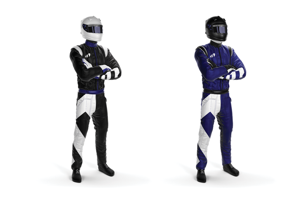 //  SUITS : Upon arrival, drivers will receive custom racing suits.