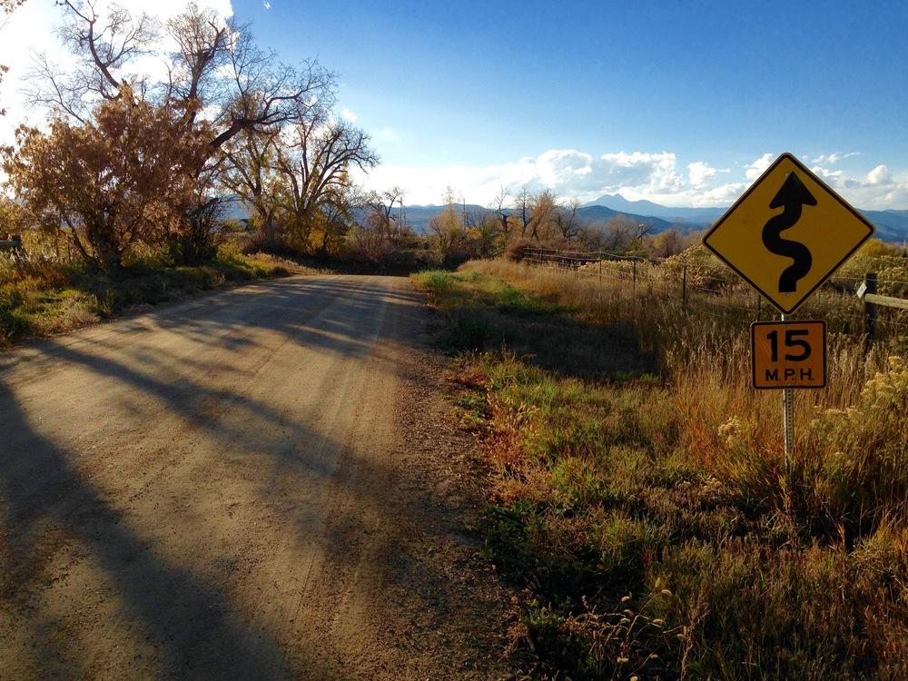 Crane Hollow Road outside Boulder, CO