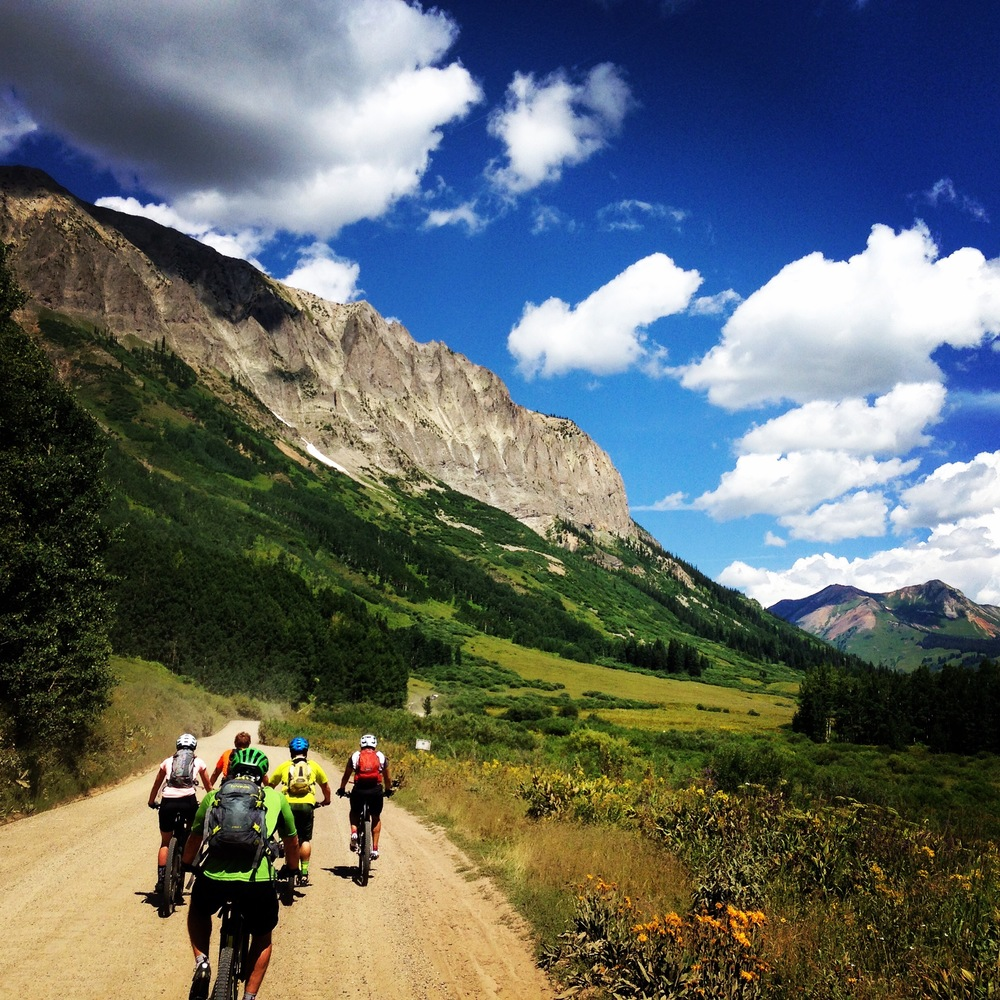 The start of the long climb up to 401 trail in Crested Butte