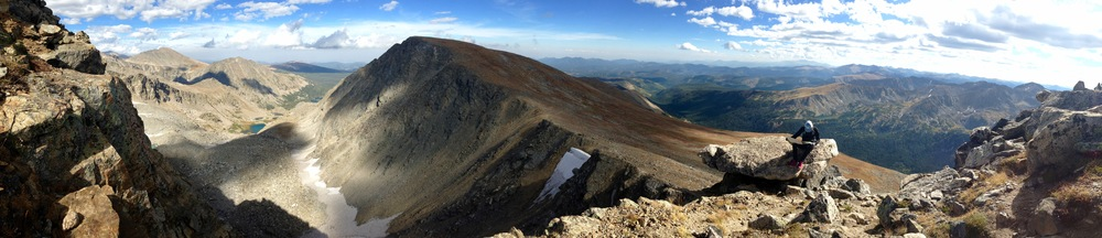 Looking down from S Arapaho Peak